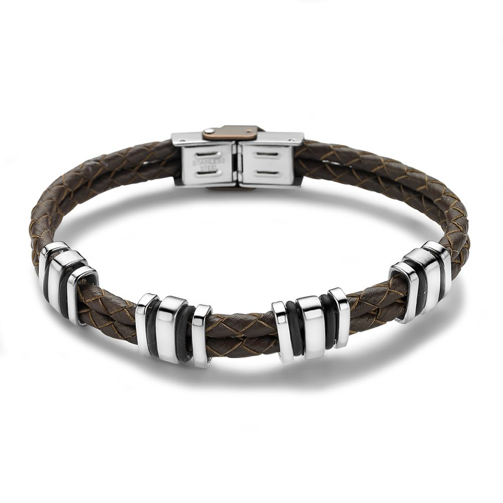 Men's Brown Leather Bracelet