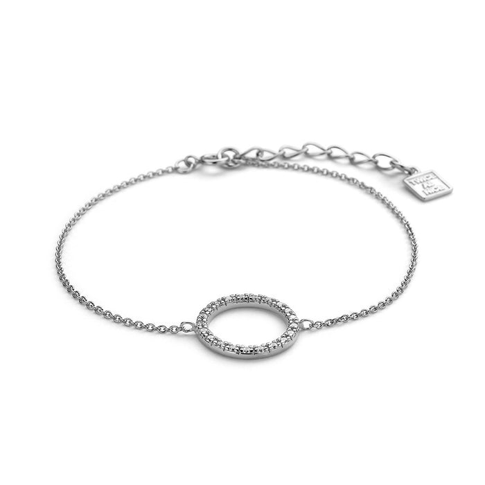 Crystal Open Circle Bracelet made with Premium Zirconia