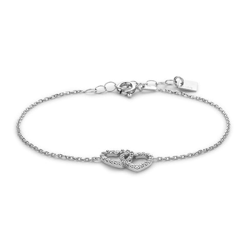Linked Crystal Heart Bracelet