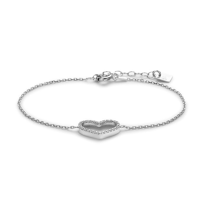 Crystal Open Heart Bracelet