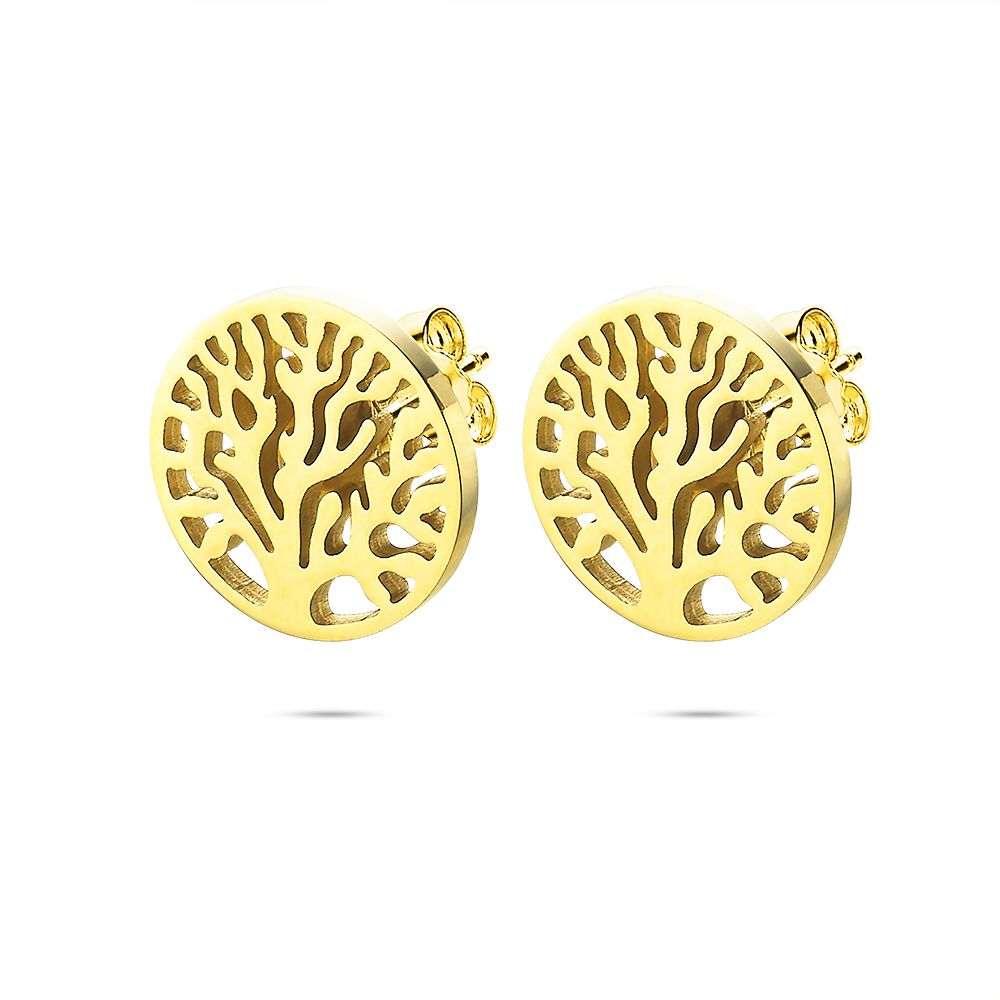 Gold Tree of Life Studs