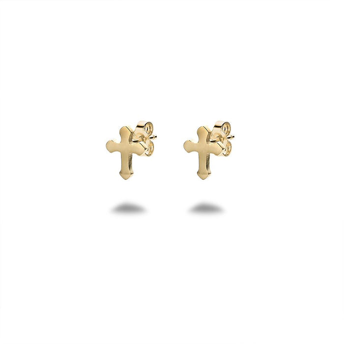 Men's Gold Cross Studs