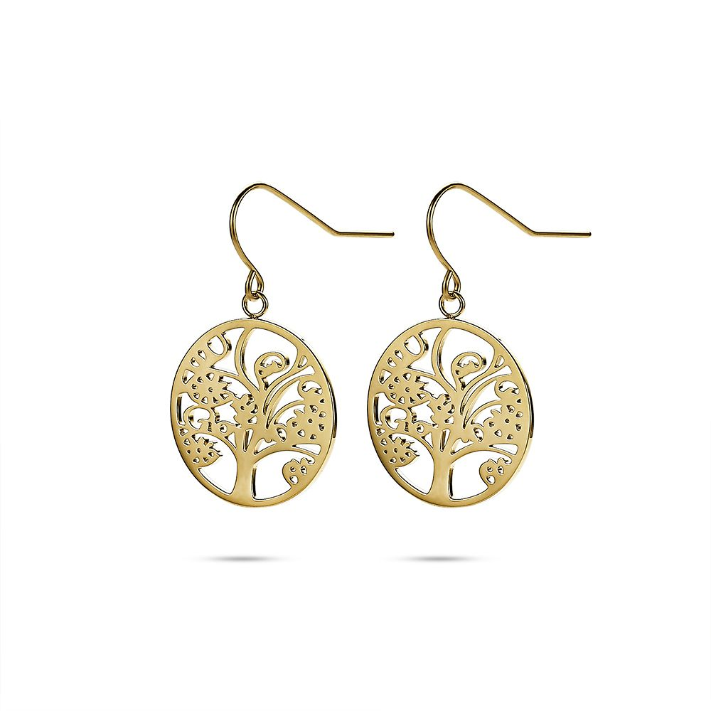 Gold Tree of Life Earrings
