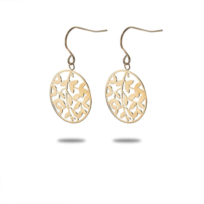 Gold Leaf Cut Earrings