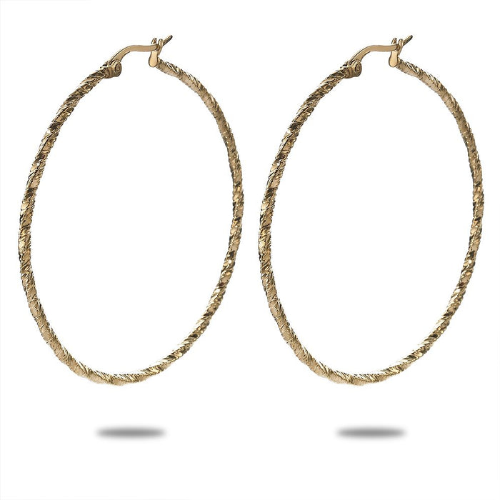 Gold Diamond Cut Hoops