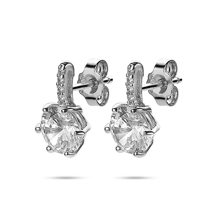 Solitaire Crystal Earrings