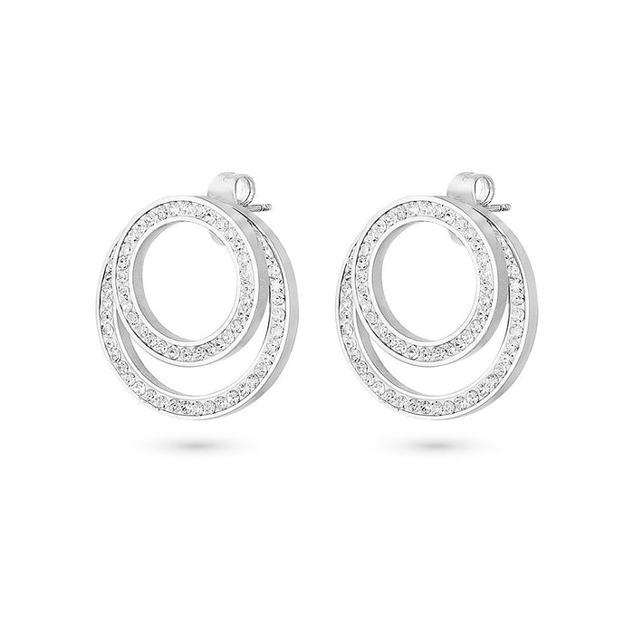 Crystal Double Circle Earrings