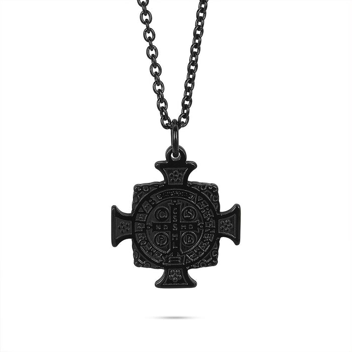 Men's Black Cross Necklace