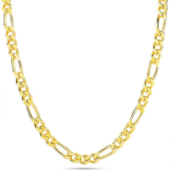 Men's Classic Gold Figaro Chain