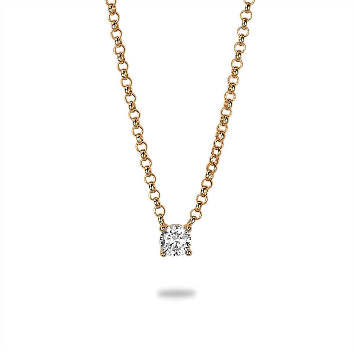 Gold Single Crystal Necklace