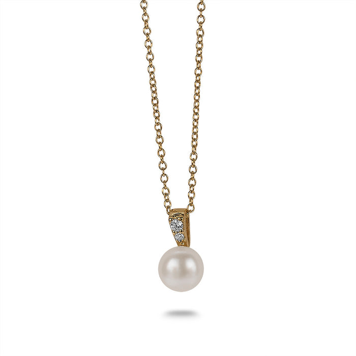 Gold Crystal Pearl Necklace