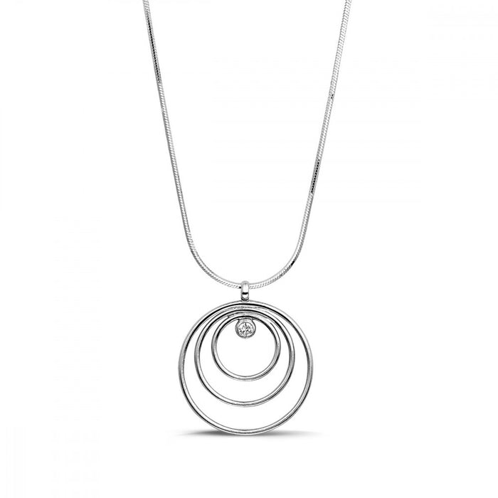 Multi Circle Crystal Necklace