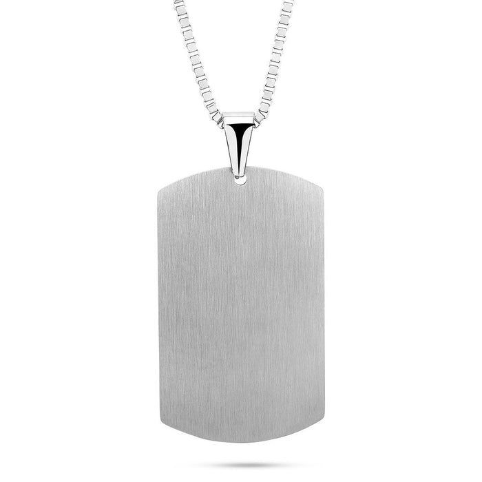 Men's ID Tag Necklace