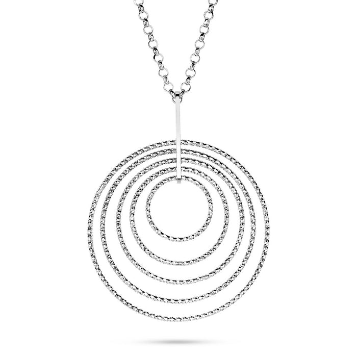 Multi Circle Shimmer Necklace