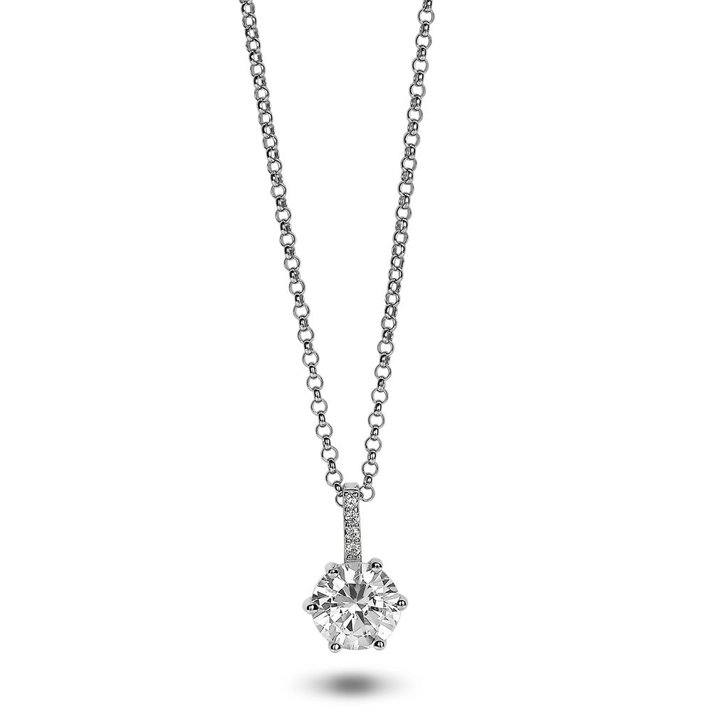 Solitaire Crystal Necklace