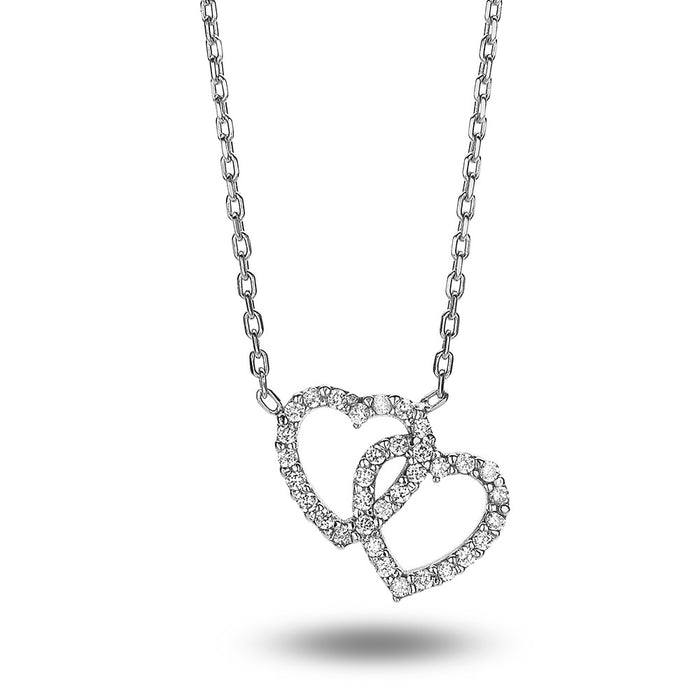 Linked Crystal Heart Necklace