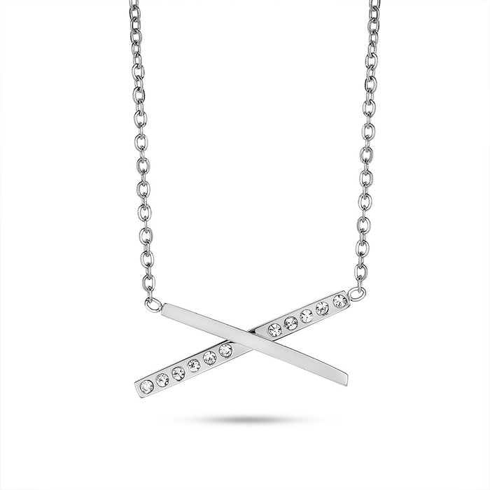Crystal Criss-Cross Necklace