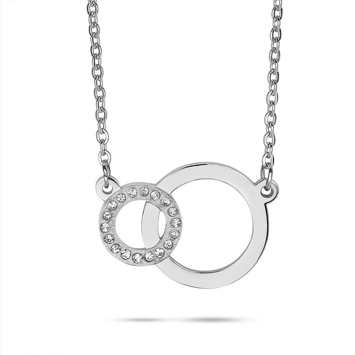 Linked Circles Crystal Necklace