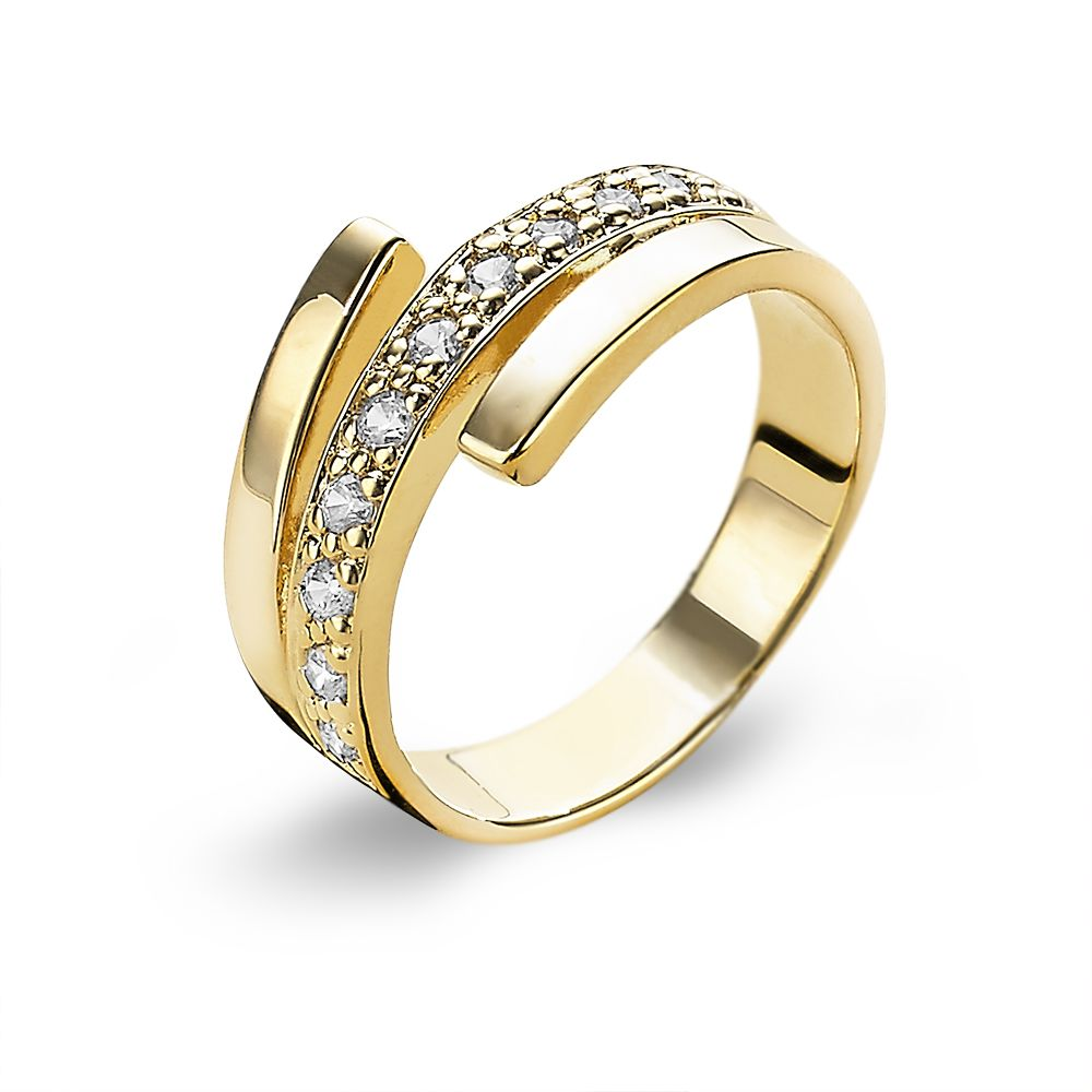 18ct Gold Plated Wrap Ring made with Premium Zirconia