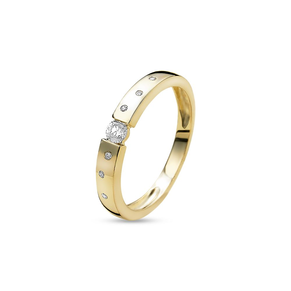 18ct Gold Plated Multi-Stone Ring made with Premium Zirconia