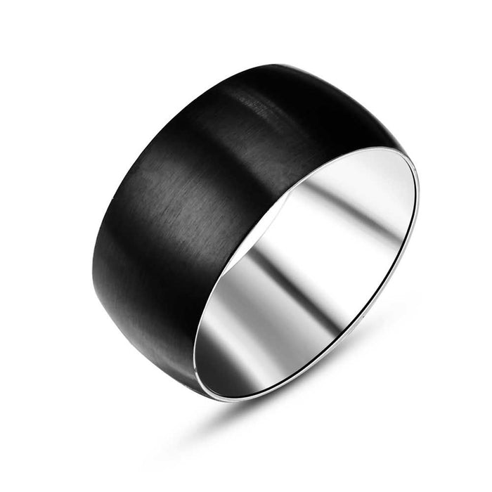 Men's Matte Black Steel Band