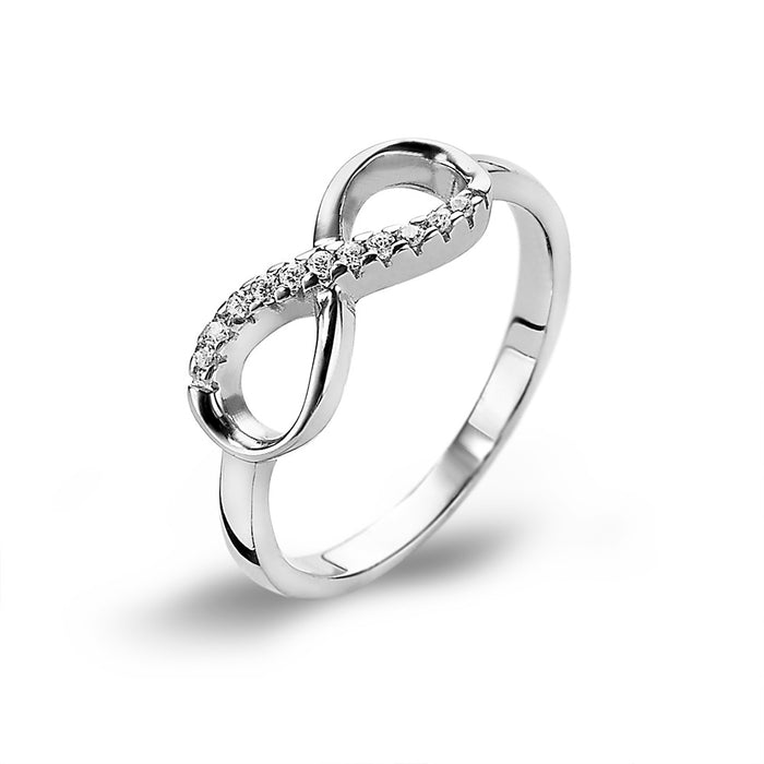 Infinity Ring made with Premium Zirconia
