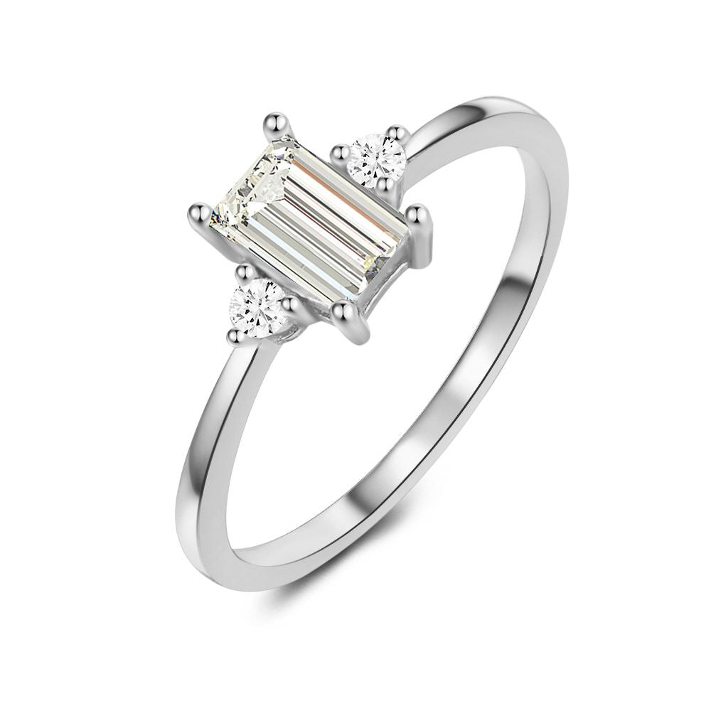 Baguette Cut Ring made with Premium Zirconia