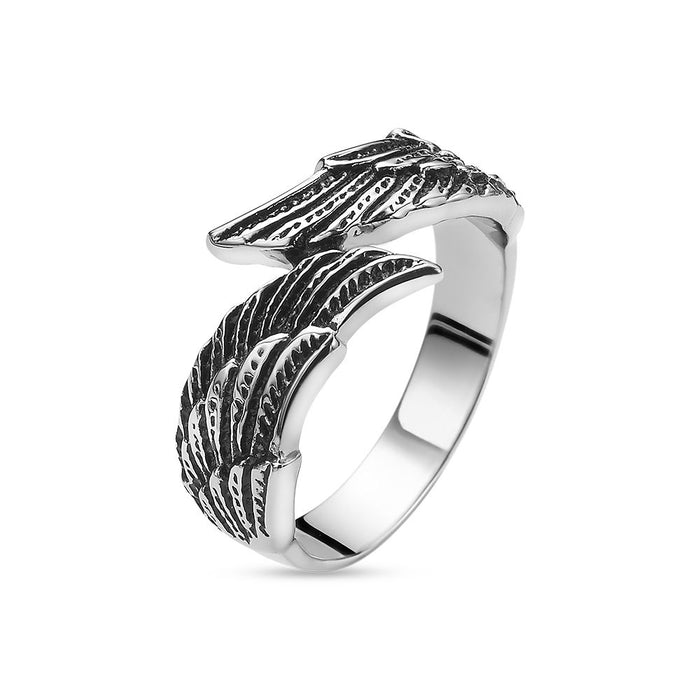 Men's Angel Wings Ring