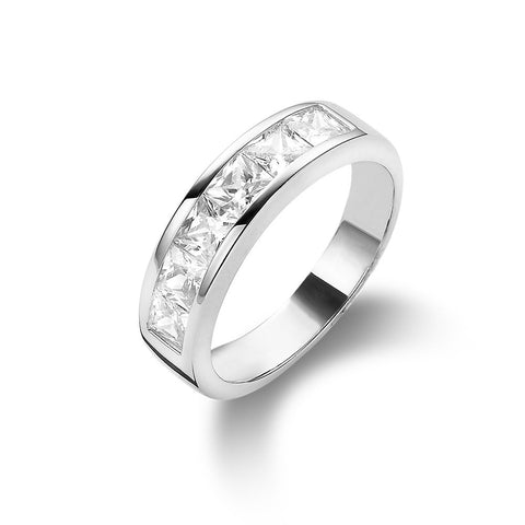 Channel Set Half Eternity Ring made with Premium Zirconia