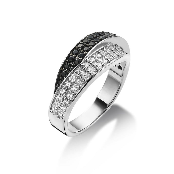 2-Tone Crossover Ring made with Premium Zirconia