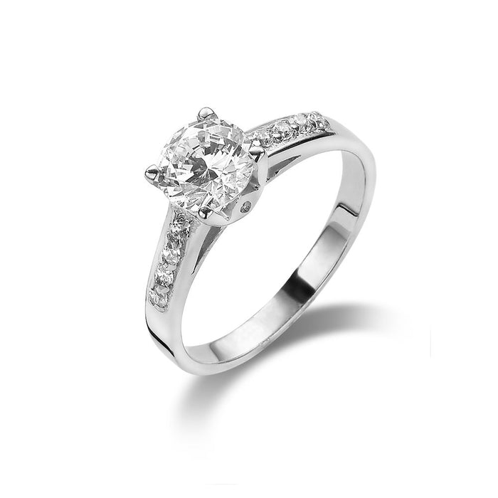 Solitaire Ring made with Premium Zirconia