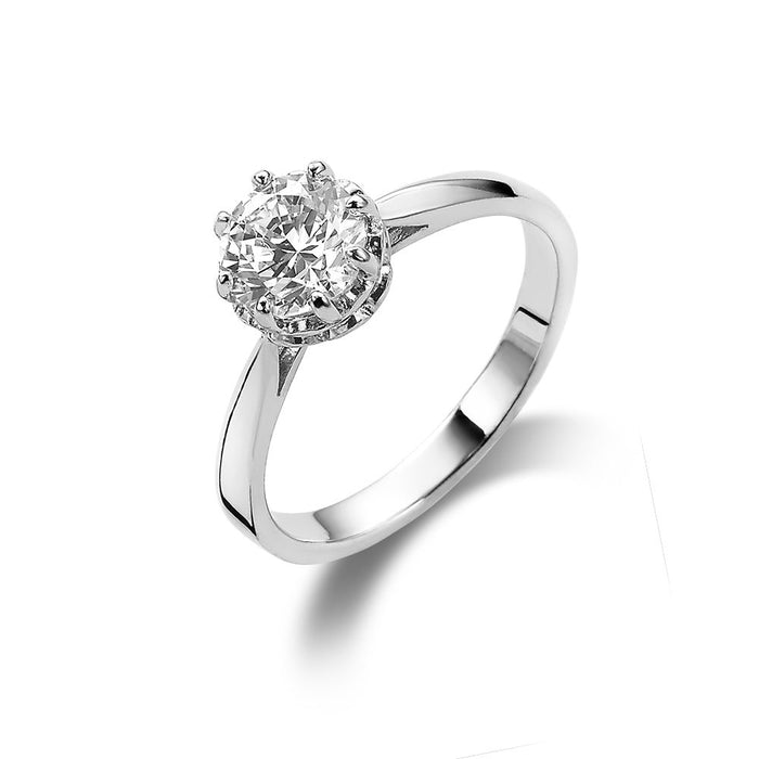 Solitaire 6 Claw Set Ring made with Premium Zirconia