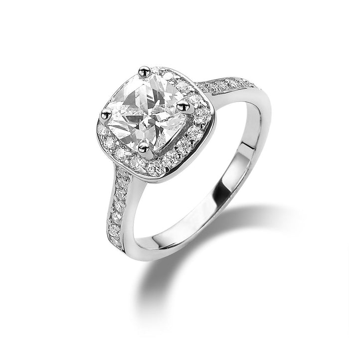 Glamorous Cushion Cut Ring made with Premium Zirconia