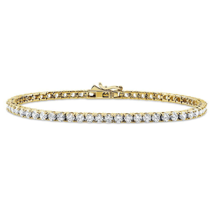 Gold Tennis Bracelet made with Swarovski® Zirconia