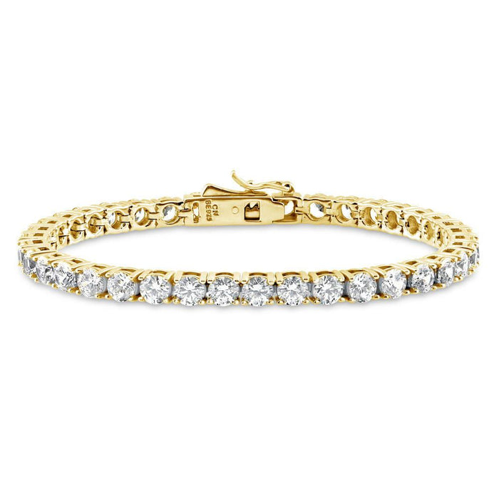 Gold Tennis Bracelet made with Swarovski® Zirconia - 4mm