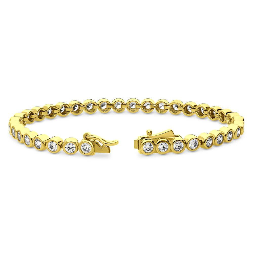 Gold Bubble Tennis Bracelet made with Swarovski® Zirconia