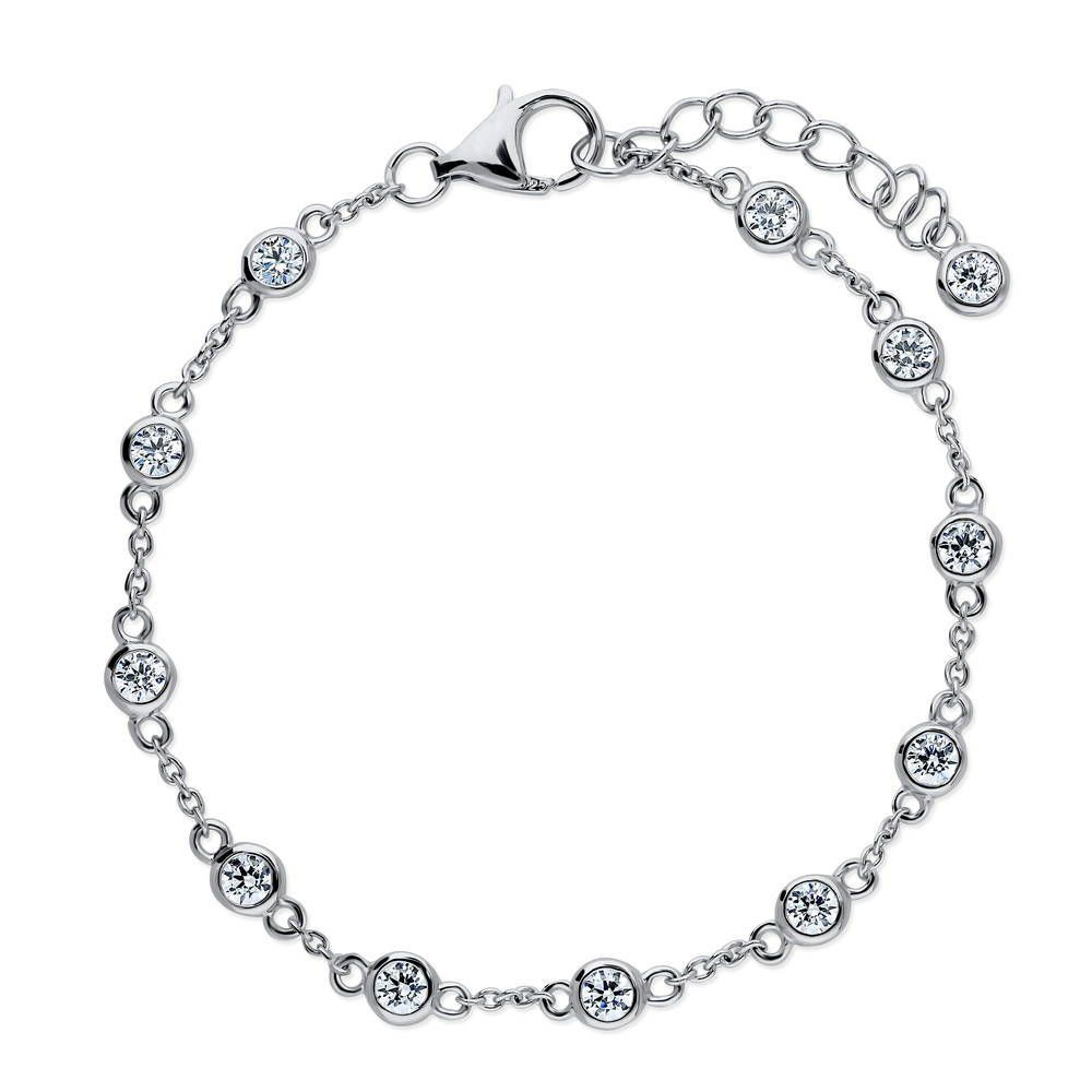 Station Bracelet Made with Swarovski® Zirconia