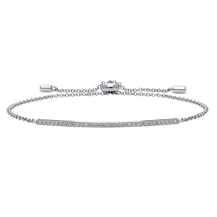Adjustable Bar Bracelet made with Premium Zirconia