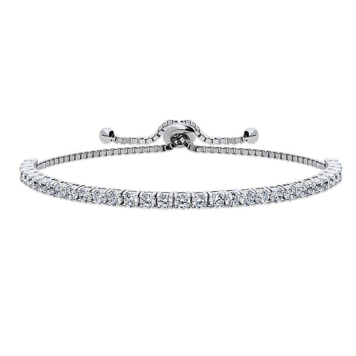Adjustable Tennis Bracelet made with Swarovski® Zirconia