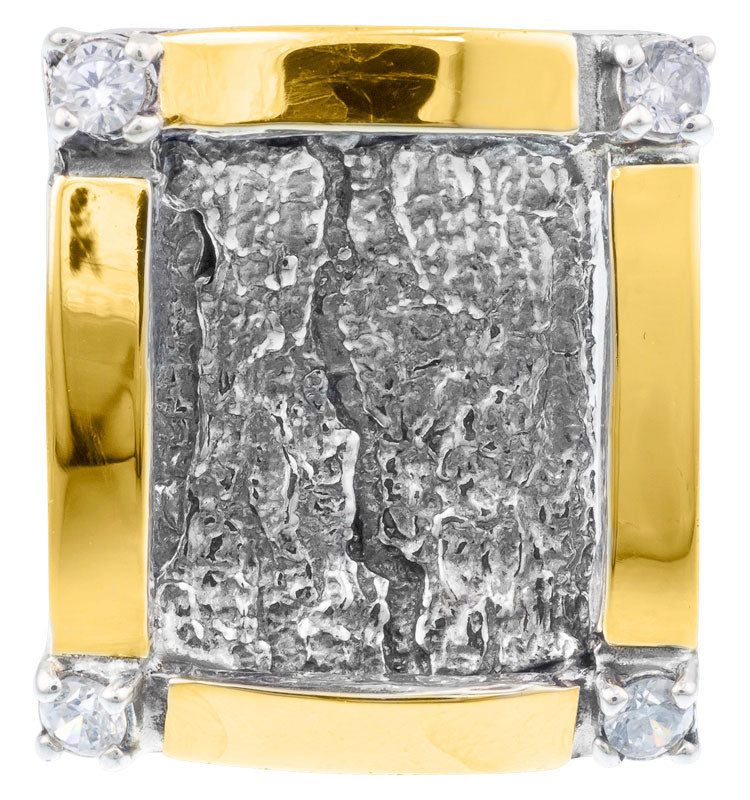 Silver & Gold Square Ring