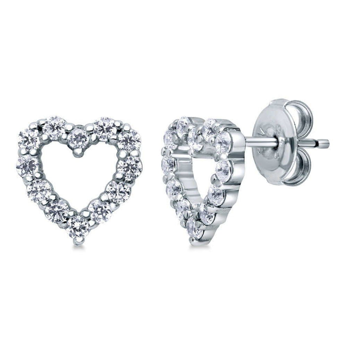Open Heart Studs made with Premium Zirconia