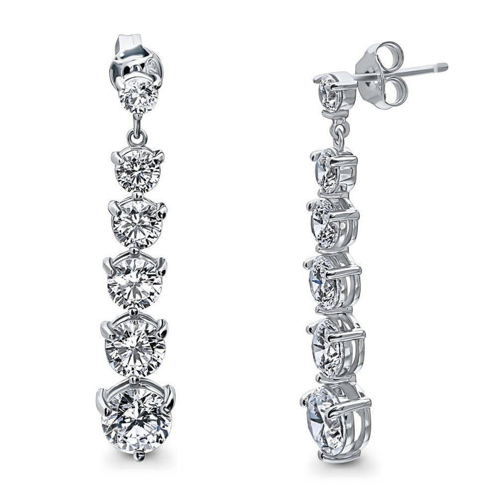 Graduated Dangle Earrings made with Premium Zirconia
