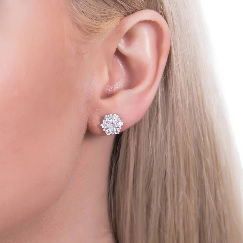 Flower Studs made with Premium Zirconia