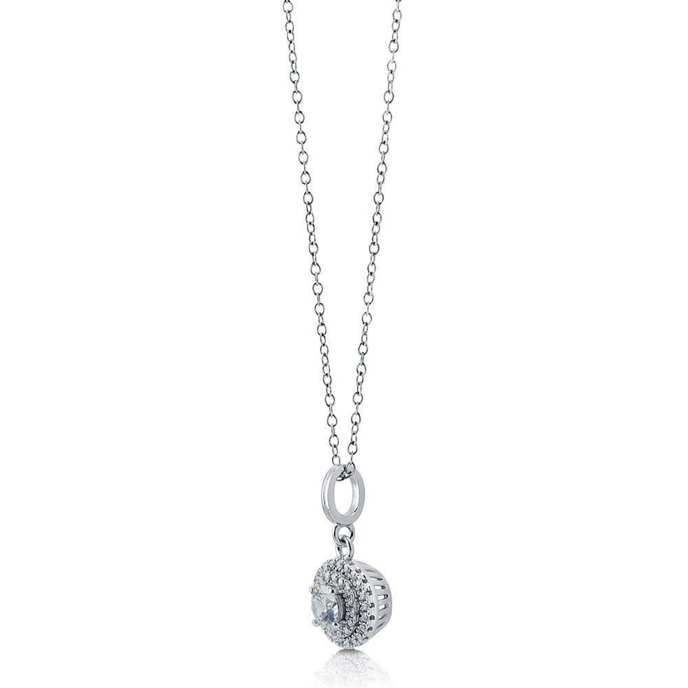 Halo Pendant Made with Swarovski® Zirconia