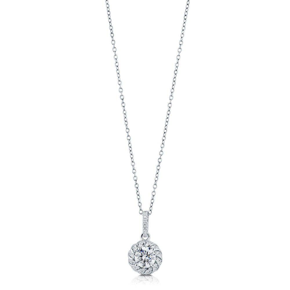 Glamorous Solitaire Necklace Made with Swarovski® Zirconia