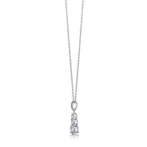 3-Stone Graduated Earrings and Necklace set made with Swarovski® Zirconia