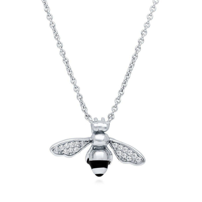 Bee Necklace Made with Swarovski® Zirconia