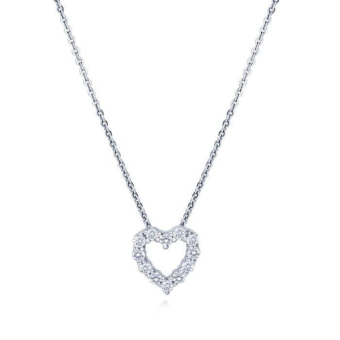 Open Heart Necklace made with Premium Zirconia