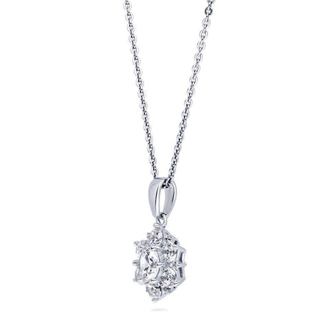 Flower Necklace made with Premium Zirconia