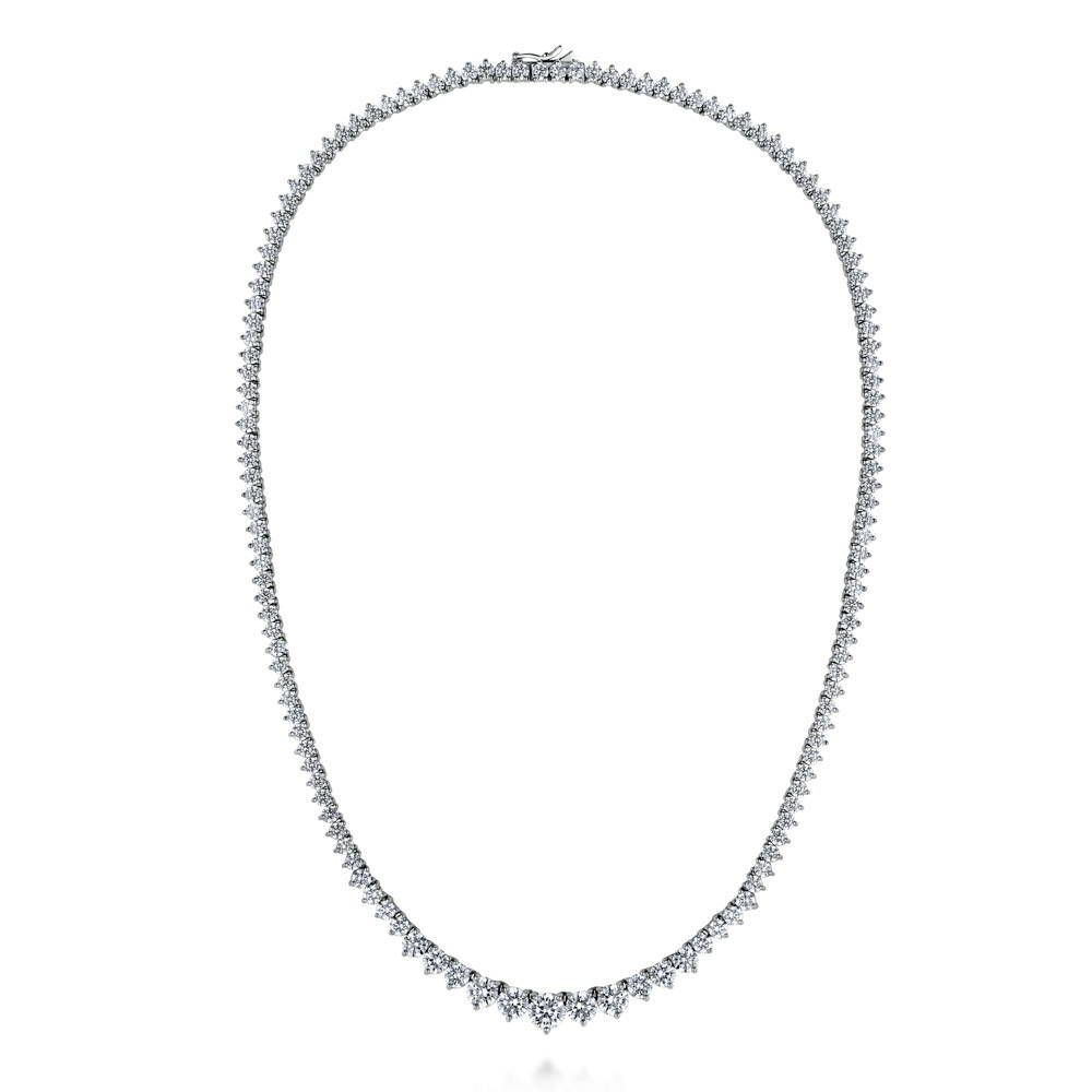 Tennis Graduated Necklace made with Premium Zirconia - 16 inch